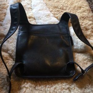 Vintage Coach Black Leather Backpack